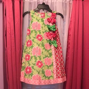 Bonnie Jean pink and green dress